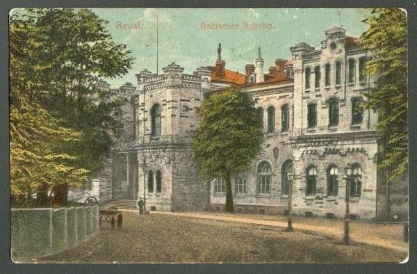 Foto: Balti jaama ees 20. sajandi alguses. Tänane Toompuiestee.